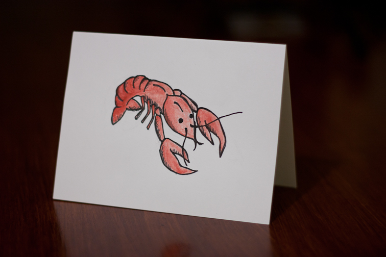 creative // crawfish notecard