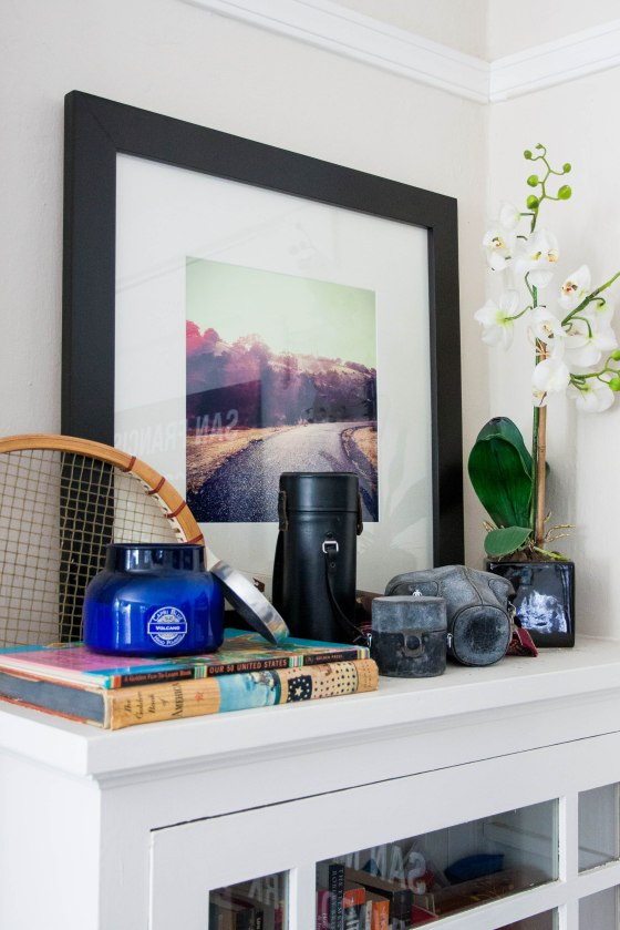 Home decor framed instagram photos in the living room for Home decor 365