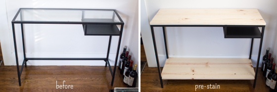 Before and During, IKEA Hack Bar Cart(ish) | lifestylethreesixfive.com