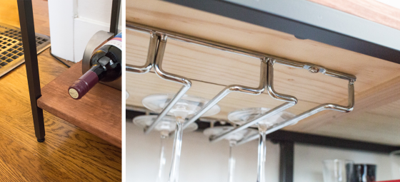 Details, IKEA Hack Bar Cart(ish) | lifestylethreesixfive.com