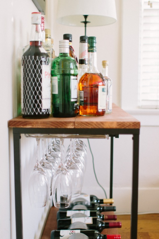 Side View, IKEA Hack Bar Cart(ish) | lifestylethreesixfive.com