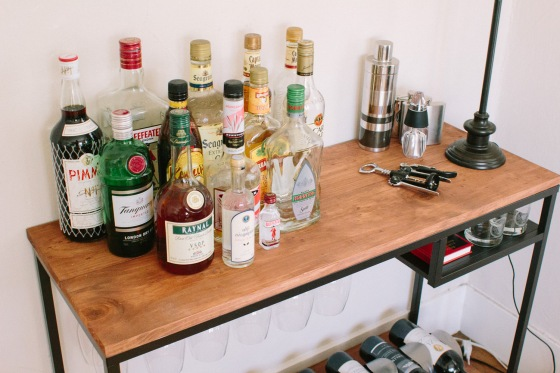 Top View, IKEA Hack Bar Cart(ish) | lifestylethreesixfive.com