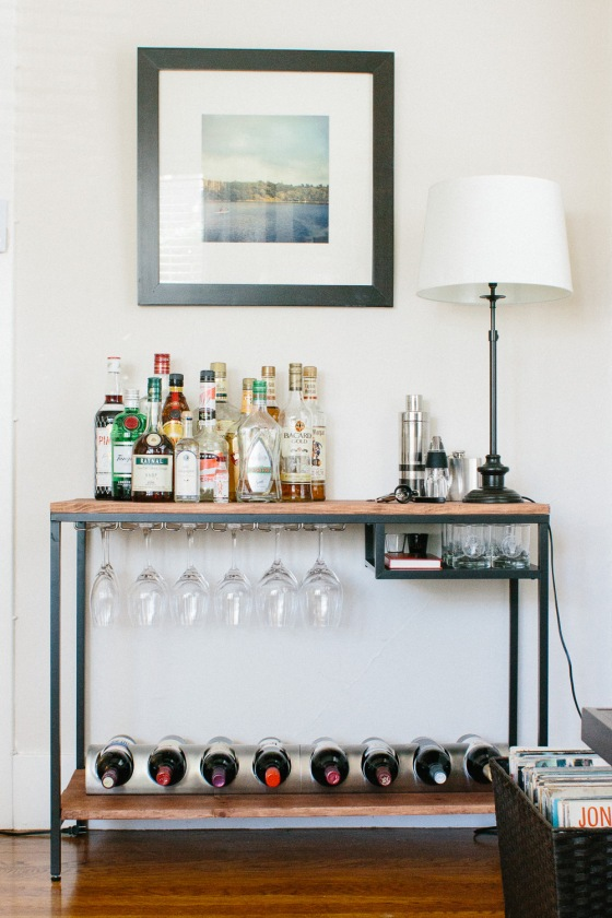project ikea hack bar cart ish life style 365. Black Bedroom Furniture Sets. Home Design Ideas